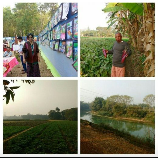 An Art Camp in the hinterland of Bengal