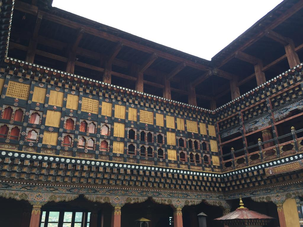 A heritage building in Bhutan